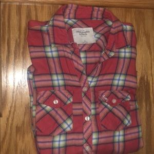 Abercrombie & Fitch flannel long sleeve ❤️✨